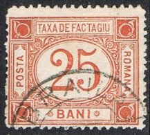 Romania SG P356 1898 Parcel Post 25b Good/fine Used - Paquetes Postales
