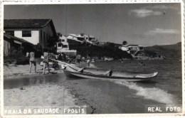 FLORIANOPOLIS - PRAIA DA SAUDADE - SELO 1957 -  BRASIL 1910 (2 SCANS) - Florianópolis