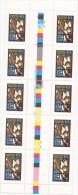 Australia 1984 Christmas 40c  Angel Gutter Strip MNH - Neufs