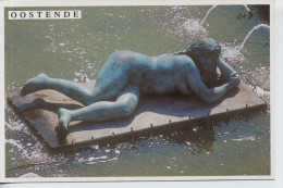"""Oostende """"De Zee"""" Van Georges Girard """"Dikke Matilda"""" Ongebruikt - Sculptures"""