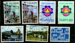 Islande Scott N° 354.355.380.381.360.361...oblitérés 405 Neuf - Oblitérés