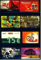 8 Verschiedene Prepaid Card Telefonkarten  -  Stamp  -  Tree  -  2 X Lycatel  -  Milestone  -  E-plus   (8) - Telefonkarten