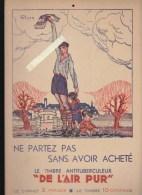 Affichette - Timbre Antituberculeux - De L´air Pur - Scout - Preventorium - Illustratyeur Gazan - Affiches