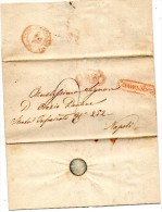 1855  LETTERA CON ANNULLO CAMPOBASSO IN CORSIVO ROSSO - Italie