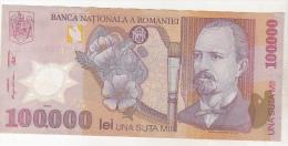 Romania 100000 Lei 2001 , Polymer , Vf - Romania