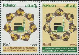 SA0096 Pakistan 1993 Islamic Conference 2v MNH - Pakistan