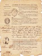 Extrait D´acte De Naissance, 1794 - Paris, Le 2 Thermidor De L´an 3 De La République - Manuscrits