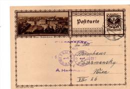 Österreich, 1928, Bildpostkarte Von Wien/Schönbrunn Mit Eingedr. 10Gr. Frankatur, Stempel Ernstbrunn (15629W) - Schlösser
