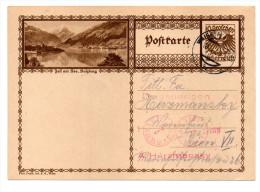 Österreich, 1930, Bildpostkarte Von Zell Am See/Sbg. Mit Eingedr. 10Gr. Frankatur, Stempel Waidhofen/Ybbs (15630W) - Zell Am See