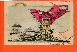 L'Ogre D'ORIENT - Corée - Il Rend Le Jaune Pour Avaler Le Blanc (coupure à Gauche) - Postcards