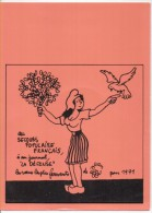 """Jean EFFEL - Au Secours Populaire A Son Journal """"La Défense""""     (76476) - Effel"""