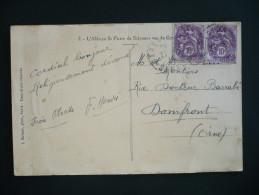 France - Type Blanc N° 233 - 10 C. Violet En Paire Sur Carte Postale - Cachet Du 21 Mai 1931 - Marcophilie (Lettres)