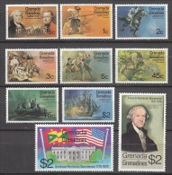 Grenada Grenadines     Scott No. 91-100     Mnh   Year  1975 - Grenada (1974-...)