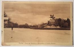 Torino Parco Del Valentino E Monumento Al Principe Amedeo Spedita Nel '39 F.p. - Parcs & Jardins