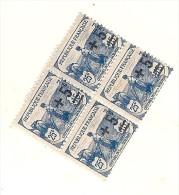 N 165 (côte Unité 5.80€ ) Bloc De 4  Cote Bloc Sup 22€ Maury  Gomme D'origine Sans Charnere - France