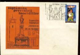 Romania, Cover, Fireman, Fire Prevention Week, Jimbolia 1982, Statue Of The Saint Florian, Firefighters Saint - Firemen