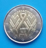 2 Euro Commemorative France 2014 Journée Mondiale Contre Le SIDA  PIECE NEUVE UNC - France