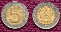 POLOGNE 5 Zlotych 1994. - Polen