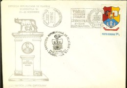 "Romania, Cover, Philatelic Exh. ""Studentfila 1981"", Cluj, She Wolf, Lupa Capitolina, Coat Of Arms - Altri"