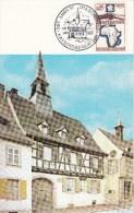 Carte Postale De KAYSERSBERG Affr Y&T 1432 Obl 90E ANNIVRE DR A. SCHWEITZER - Postmark Collection (Covers)