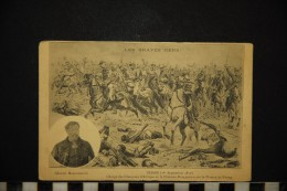 CP, HISTOIRE SEDAN (1er Septembre 1870) Charge Des Chasseurs D'Afrique De La Division Marguerite Voyagé - Historia
