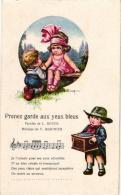 4 Postcards Signed  A. Bertiglia Chansons SONGS Misic Vendeur De Statuettes   Barrel Organ  Orgue De Barbarie - Bertiglia, A.