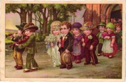 8 Postcards  Illustrator   Signed  A. Bertiglia  Wedding Good Bye  Fishing Humor - Bertiglia, A.