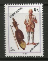 Nepal 1983 Musical Instrument - Sarangi Sc 411 MNH # 1975A - Musique