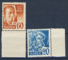 Lot Baden Nr. 21 , 25 ** postfrisch