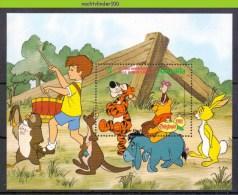 Nap824 WALT DISNEY WINNIE THE POOH VARKEN TIJGER EZEL ASS DONKEY BEAR PIG TIGER RABBIT KANGOOROO ANGUILLA 1982 PF/MNH - Disney