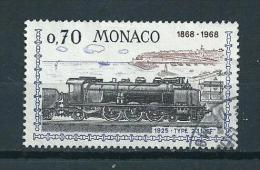 1968 Monaco Nice-Monaco Railways,trains,zug Used/gebruikt/oblitere - Oblitérés