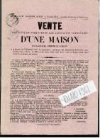 VP1388 - Affichette ( 21 X 29 ) - Tribunal De  FONTENAY - LE - COMTE Vente D´une Maison Sise à CHARZAIS - Posters