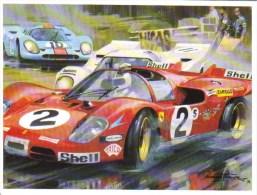 1000kms Brands Hatch 1970 -  Chris Amon  -  Ferrari 512S  - Artwork By Michael Turner - CP - Le Mans