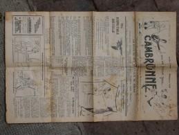 JOURNAL CAMBRONNE    N° 3  MARS 1940 - Documenti