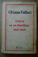 PCO/44 Oriana Fallaci LETTERA A UN BAMBINO MAI NATO Rizzoli 1976 - Libri, Riviste, Fumetti