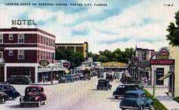 PANAMA City Florida Looking South On Harrison Avenue, Automobiles - Panama City