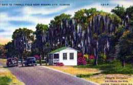 PANAMA City Florida  West Gate To Tyndall Fild Near Panama City, Automobiles - Panama City