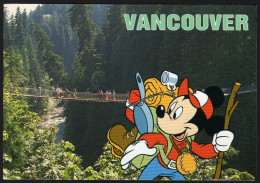 Walt Disney - Mickey Mouse & Vancouver The Capilano Suspension Bridge - Gelaufen - Disneyland