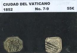 Vaticane. 1852. YT 7,9. - ...-1929 Préphilatélie