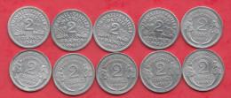 France 20 Pi�ces de 2 Francs en B-TB et TTB ( Bazor 1944B-1944C -Morlon 1944-1945B et 1945C)