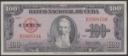 1954-BK-6 CUBA 1954 BANCO NACIONAL DE CUBA 100$ FRANCISCO VICENTE AGUILERA XF. SERIE B.