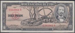 1958-BK-29 CUBA 1958 BANCO NACIONAL DE CUBA 10$ CARLOS MANUEL DE CESPEDES UNC. - Cuba