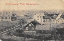SWEDEN, POSTCARD, MUNKA LJUNGBY, UTSIKT FRAN KYRKTORNET, 1913 - Zweden