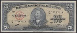 1960-BK-13 CUBA 1960 BANCO NACIONAL DE CUBA 20$ ANTONIO MACEO UNC. ERNESTO CHE GUEVARA. SERIE Q.
