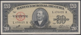 1960-BK-19 CUBA 1960 BANCO NACIONAL DE CUBA 20$ ANTONIO MACEO UNC. ERNESTO CHE GUEVARA. SERIE L.