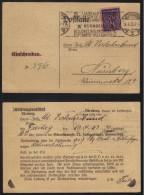 CONGRES MONDIAL D ESPERANTO / 1923 ALLEMAGNE OBLITERATION MECANIQUE SUR CARTE (ref 5483a) - Esperanto