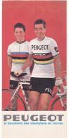 """¤¤  -  Dépliant Publicitaire De La Marque """" PEUGEOT """"  -  Coureur Cycliste """" Tom SIMPSON """" ,  Vélos  -  ¤¤ - Cycling"""