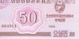 50 Won 1988 NEUF - Korea, North