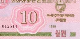 10 Won 1988 NEUF - Korea, North