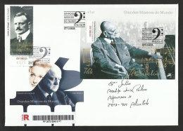 Portugal Jean Sibelius Musician Finlande Musique 2015 FDC Recommandée Sibelius Finland Musician Music R FDC - Muziek